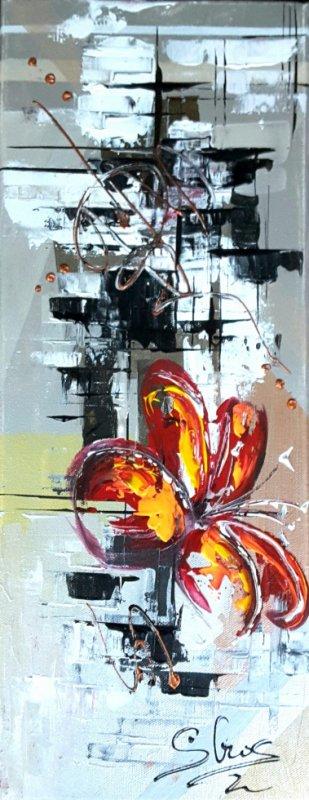 Floral abstrait 20 x 50