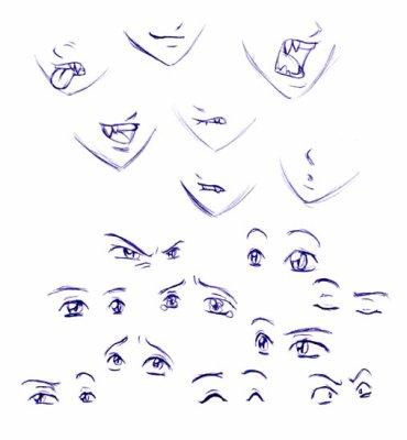Manga Eyes And Mouth Ange Et Demon