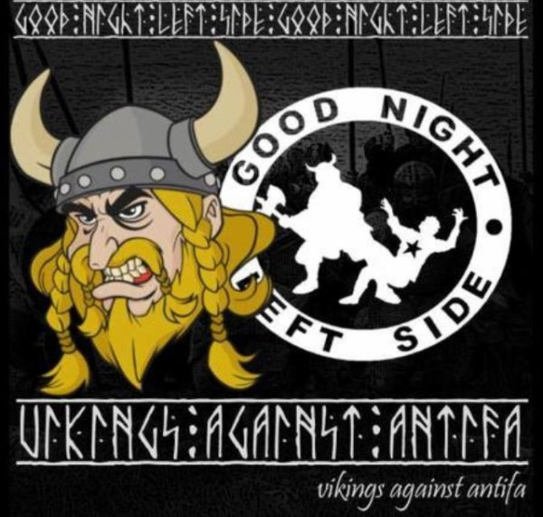 viking against antifa