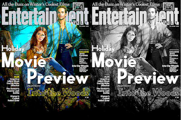 Chris Pine et Anna Kendrick font l'une des couverture de Entertainment Weekly pour Into The Woods