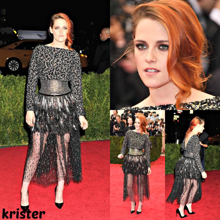Le 5 mai 2014, Kristen a été vu en marchant pour aller à l'event Met Ball Gala