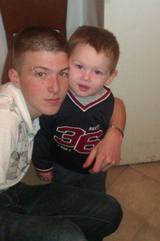 le beaux frere avec mon fils