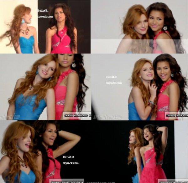 bella & zendaya dans les coulisses de Seventeen