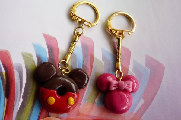 Porte Clefs Mickey & Minnie