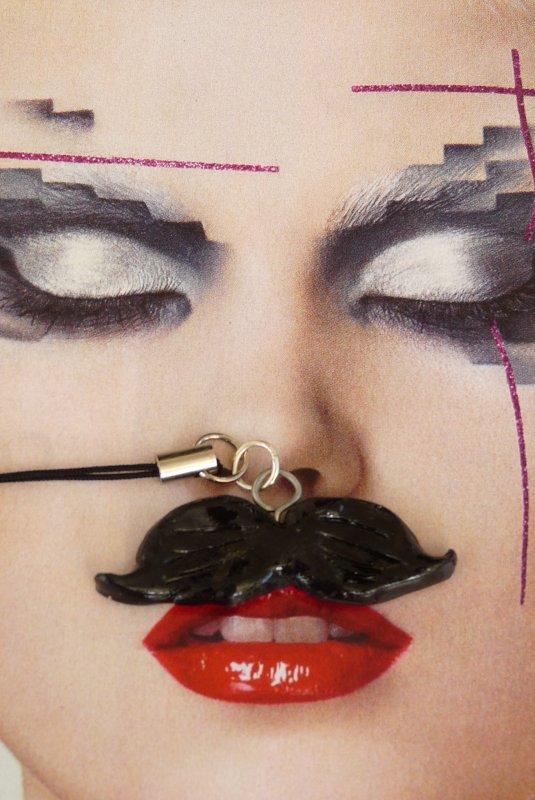Bijou de portable moustache