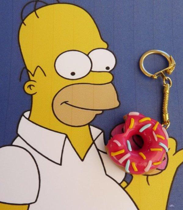 Porte clef donut Homère Simpson