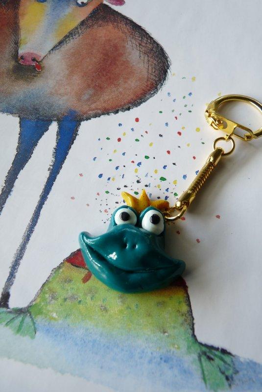 Porte clef prince grenouille