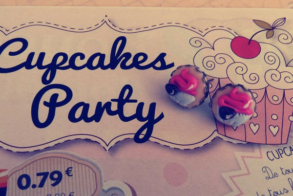 Boucles d'oreilles Cupcakes Party