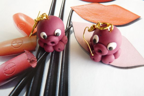 Boucles d'oreilles Babies Octopus