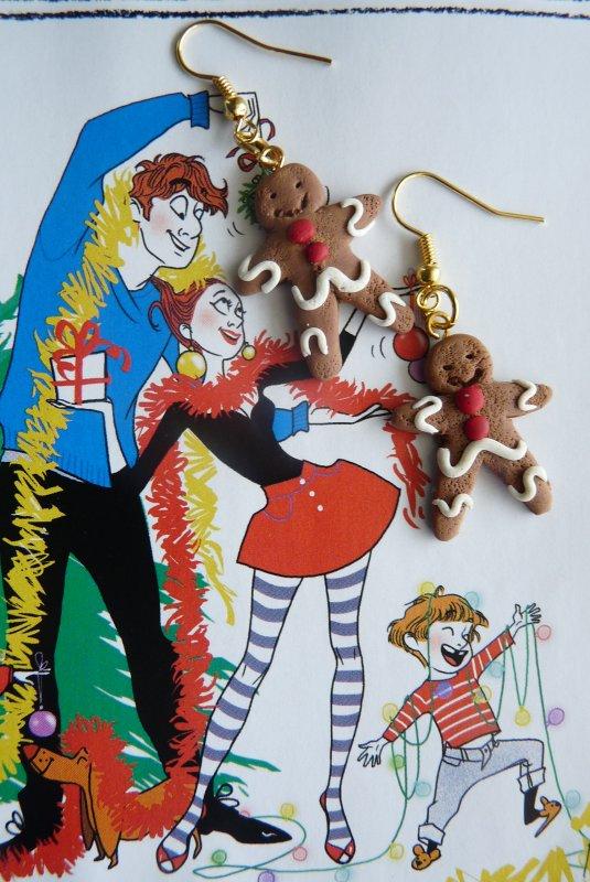 Boucles d'oreilles biscuits de Noël
