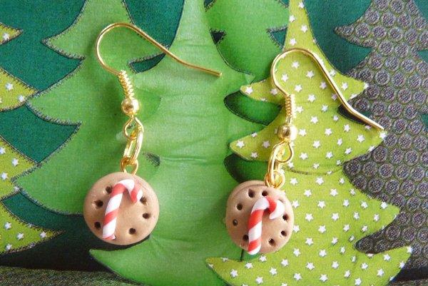 Boucles d'oreilles biscuits de lutins