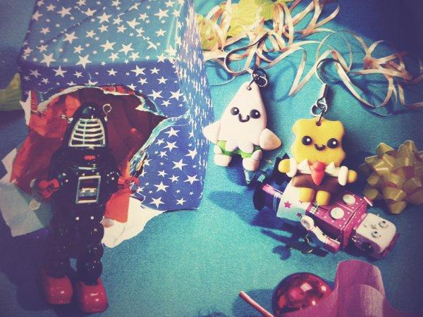 Boucles d'oreilles Sponge bob and Patrick