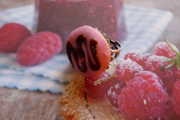 Bague donuts framboise