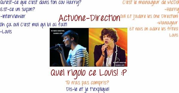 Dialogue entre Louis/Interviewer et Harry/Manageur du McDo/Louis :) Aimez-vous? Avez-vous compris? Si non! Je vous explique! ;)