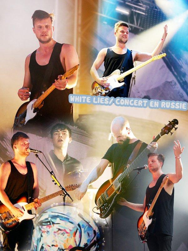 News en wave  Les White Lies on été en Russie le 12 juin pour donner un concert suite à leur tournée Big Tv...des fans on posté des photos et un clip amateur de Big Tv est sortie entre temps ! ( ce clip reflète parfaitement l'esprit de la chanson et le style des White Lies je trouve )