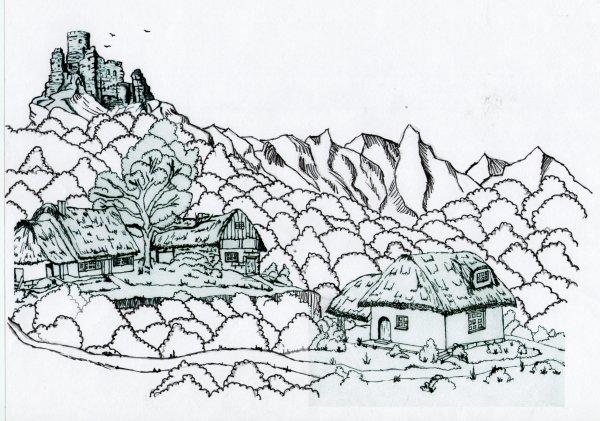 comment je fais pour faire  un paysage