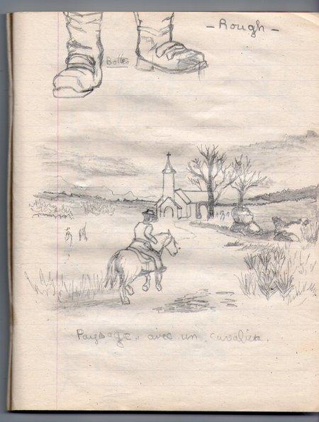 sur mon carnet de dessin