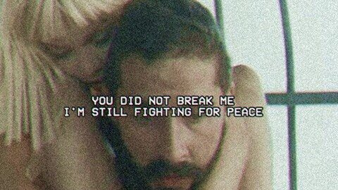 You did not break me, I'm still fighting for peace.