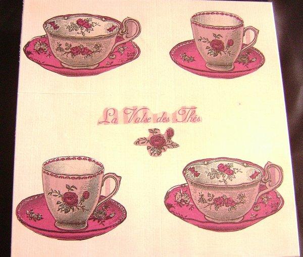 Boite à thé, café ou chocolat...Miam!