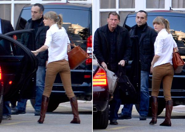 25.01.13 : Taylor a été aperçue arrivant à l'aréoport de Nice direction les NRJ Music Awards Taylor va surement faire une perfomance au NRJ Music Awards et le 28 elle donnera un concert privé à Paris sur une péniche.