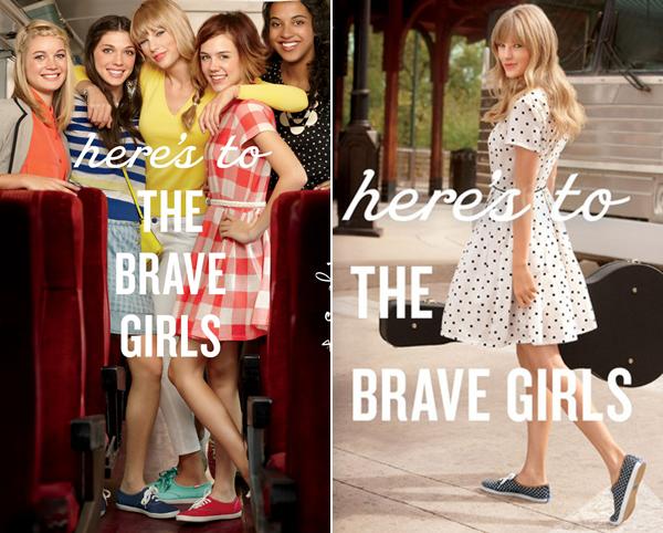 Tay est la nouvelle égérie de la marque de chaussures Keds de la collection Bravehearts ! Découvrez deux photos et une vidéo promo. Taylor sera aussi la nouvelle tête de Coca-Cola. La chanceuse.