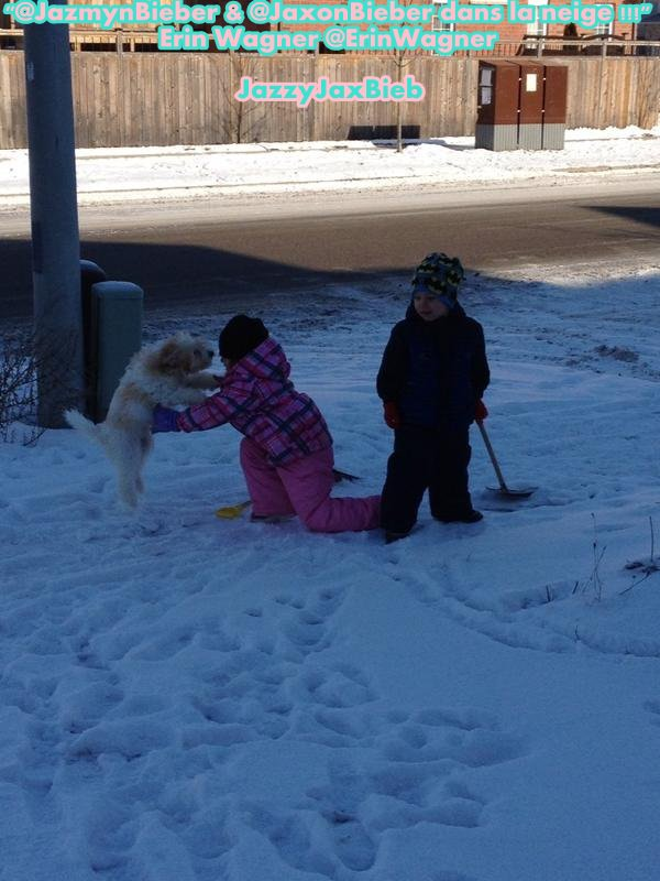 """@JazmynBieber and @JaxonBieber in the snow"" - Erin Wagner @ErinWagner (28/01)"