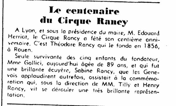 "L'article  de  Presse  de  la  ""  Mémoire  des  Rancy...."""