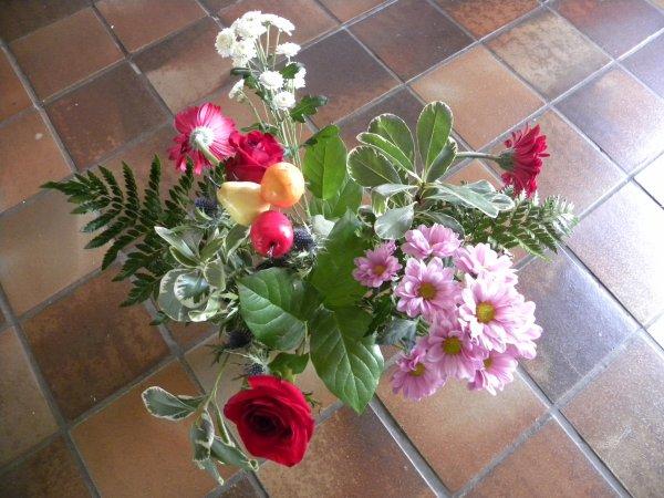 jolie bouquet offert pour moi , pour mon annif