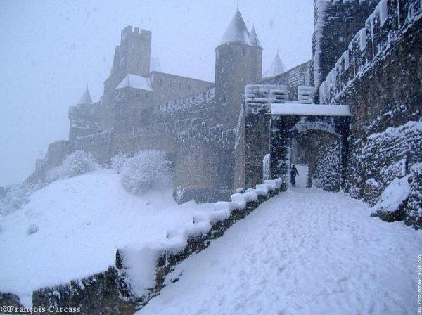 Carcassonne sous la neige !