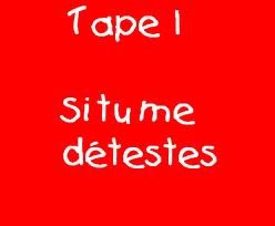 Tape 1 (ou tape 2)