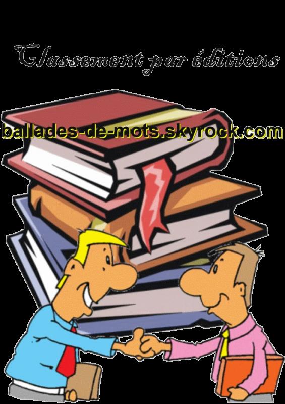 Classement des lectures par éditions