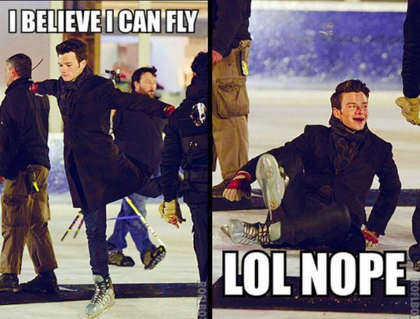 Kurt can fly ... Or not !