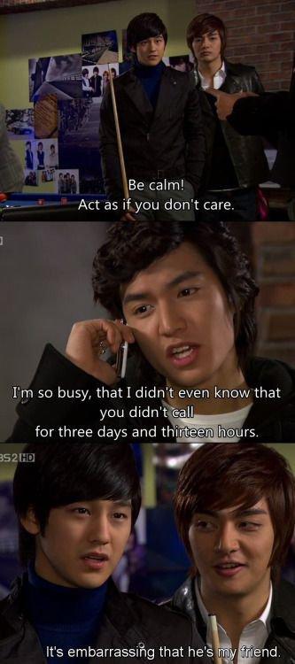 Jun Pyo acting like he doesn't care hahahah