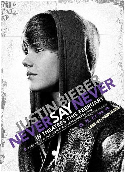 .... Le poster du film il s'appellera donc « Never Say Never » , il sortira le 11 Février 2011 et sera en 3D! Pour le réalisateur, sa sera surtout un documentaire sur la vie de Justin et non un film-concert de tous les jours.....