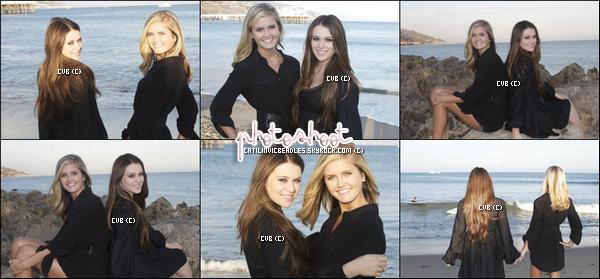 Caitlin a réalisée un photoshoot au bord d'une plage avec sa cousine.