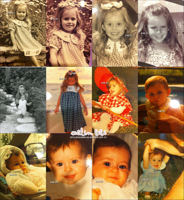 Quelques photos de Caitlin étant bébé.