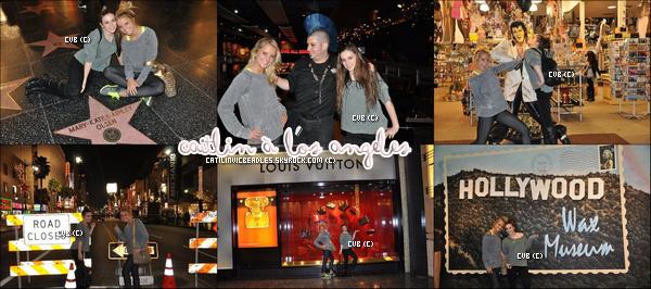 Caitlin , Payton , Christian  & des amies ce son rendus lors d'un séjour à Los Angeles en Janvier.