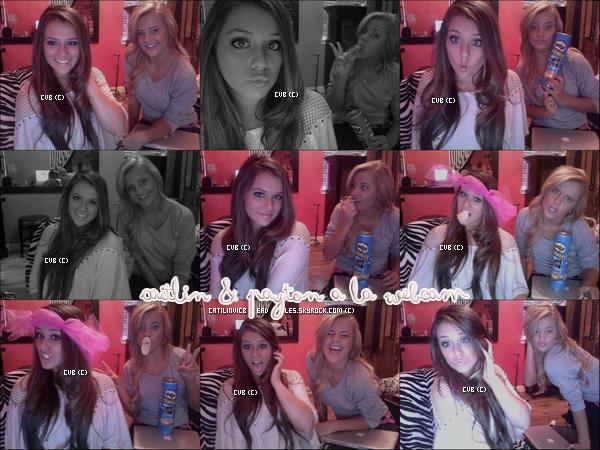 Caitlin a rendue visite a sa meilleur amie au Texas , ou elles ont prient quelques photos avec la webcam de Payton.