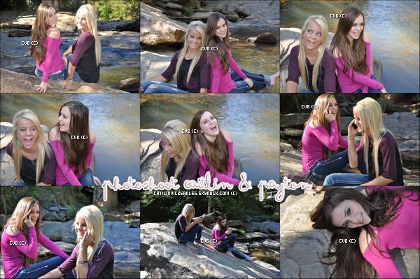 Caitlin a réalisée un photoshoot avec Payton au bord d'un ruisseau.