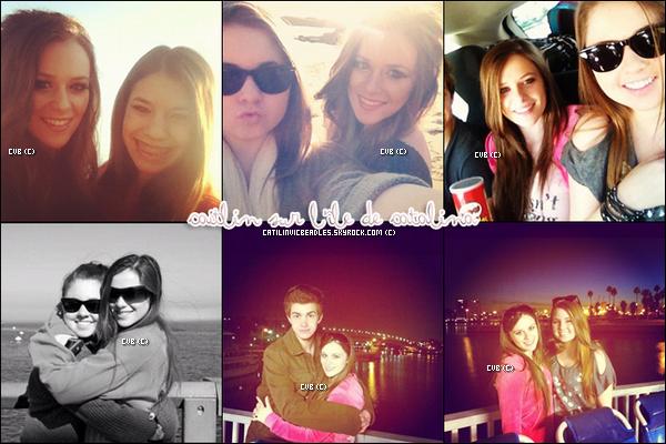 Caitlin & allée au mois de Janvier sur l'ile de Catalina où elle a séjourner quelques jours avec Cameron , Christian,  Brogan & d'autres ami(e)s.