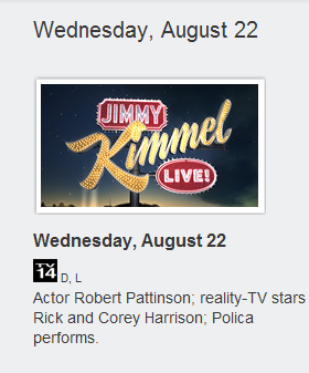 Robert Pattinson sera au Jimmy Kimmel Live