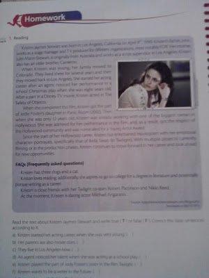 Le brésil utilise la biographie de Kristen pour enseigner l'anglais !