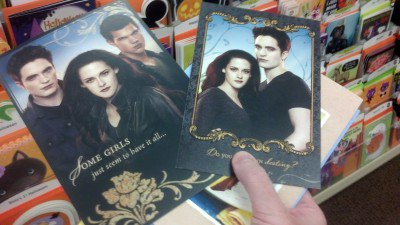 Cartes de Breaking Dawn part 2 pour Halloween.