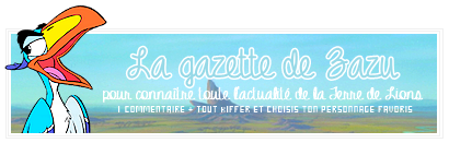 La gazette de Zazu - New'sLetter