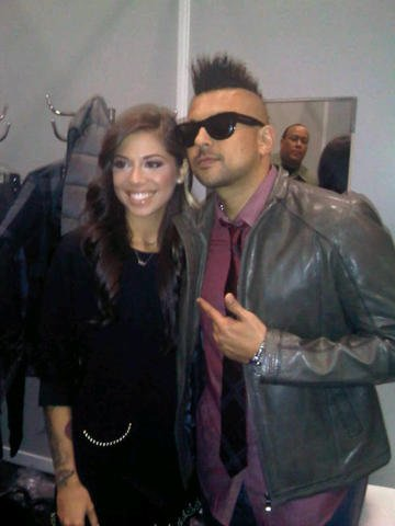 Sean Paul And Christina Perri Backstage at ECHO Awards