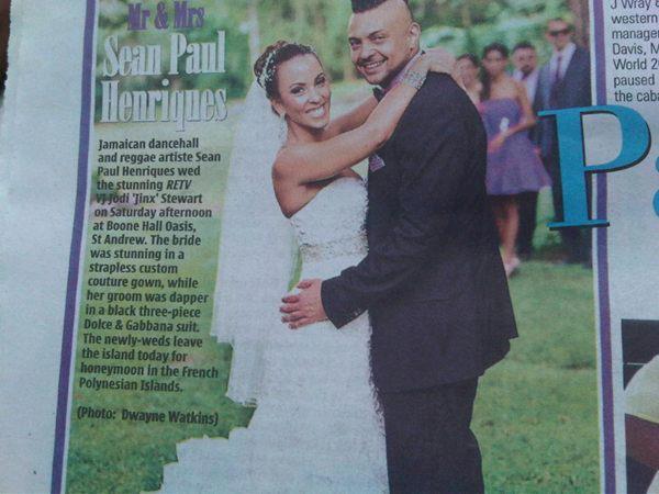 Sean Paul et Jodi Stewart : Marié !!!!