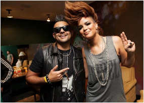 Sean Paul and Eva Simons ( @evasimons on Twitter)