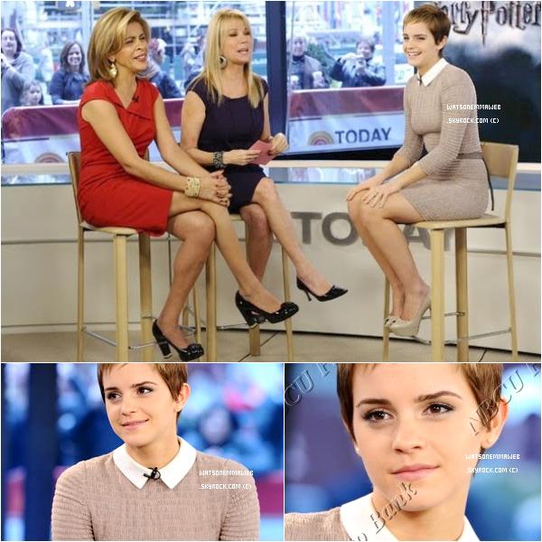 """* ARCHIVES : (16/11/2010) Emma Watson sur le plateau de """"the Today Show"""". *"""