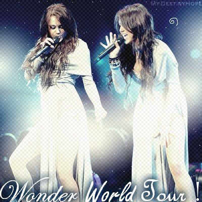 - Wonder World Tour 2009, Flash Back.  [ Création ; Déco ; Texte ; Déco décalé ].