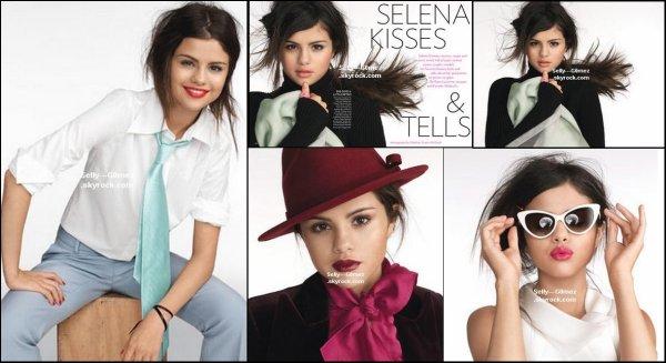 Selena apparaît dans le Glamour américain ! Photos du photoshoot qu'elle a réalisé pour ce magazine.